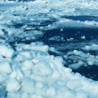 Blue Ice on river — Stock Photo