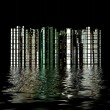 3D city reflection in water — Stock Photo #33330707
