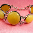 Stock Photo: Jewelry amber bracelet