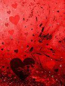 Valentine grunge card — Stock Photo