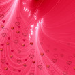 Pink background with hearts — Stock Photo