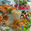 Russian celebratory feast — Stockfoto