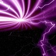 Purple background with lightning — Stock Photo