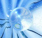 Acqua bolle di sfondo — Foto Stock