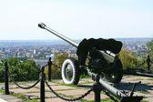 Alarm-gun in Saratov city — Stock Photo