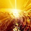 Stock Photo: Abstract golden waves