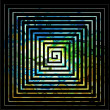 Square labyrinth background — 图库照片
