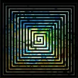 Square labyrinth background — Foto Stock