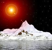 Arctic glow. Mountain. — Stock Photo