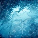 Blue snowflakes background — Stock Photo