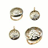 Beautiful golden jewelry — Stock Photo