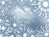 Gray snowflakes background — Stock Photo