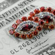 Jewelry and money — Stockfoto