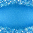 Christmas blue background — Foto Stock