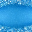 Christmas blue background — Stock fotografie