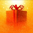 Christmas background with gift — Stock Photo