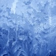 Frosty  blue pattern — Stock Photo