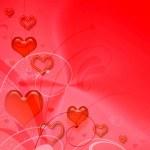 Valentines red background — Stock Photo