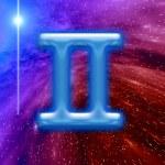 Blue zodiac sign — Stock Photo
