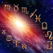 Twelve symbols of the zodiac — Foto Stock