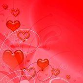 Fond de la saint-valentin rouge — Photo