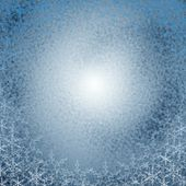 Christmas snowflake circle — Stockfoto
