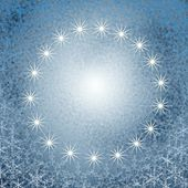 Christmas snowflake circle — Foto de Stock