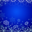 Dark blue Christmas abstract — Stock Photo
