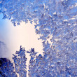 Blue frosty pattern — Stockfoto