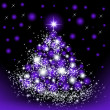 Christmas purple tree — Stock Photo