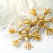 Christmas straw decoration — Stockfoto