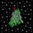 Christmas tree illustration — Foto Stock