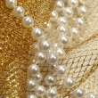 Christmas decoration pearl beads — Stock Photo