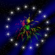 Abstraction background with firework — Stok fotoğraf