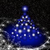 Christmas shiny tree — Stock Photo