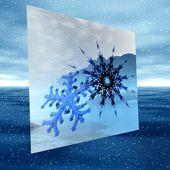 Christmas illustration of snowflake — Foto Stock