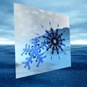 Christmas illustration of snowflake — Foto de Stock