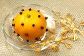 Christmas decoration - mandarin aromatizer — Stockfoto