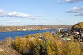 Autumn scenery, Ples town — Stock Photo