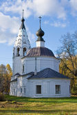 Church in autumnal landscape, Ples — Stockfoto