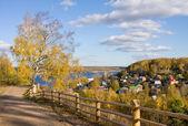 Autumnal scenery, Ples town — Stock Photo