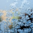 Blue frosty pattern — Stock Photo
