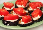 Appetizing dietetic food - aubergines — Stock Photo