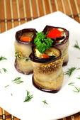 Appetizing Rolls of aubergines — Stock Photo