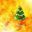 Xmas abstract with christmas decor — Stockfoto