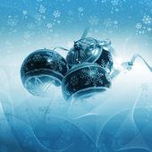 Illustration background with christmas decor — Stock Photo