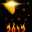 Twelve symbols of the zodiac. Cover for card 2012 year — Stock Photo