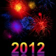 Vibrant beautiful firework, 2012 — Stock Photo