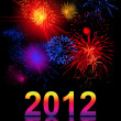 Vibrant beautiful firework, 2012 — Stock Photo #35863191