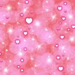 Abstraction pink background  with hearts  — Foto de Stock